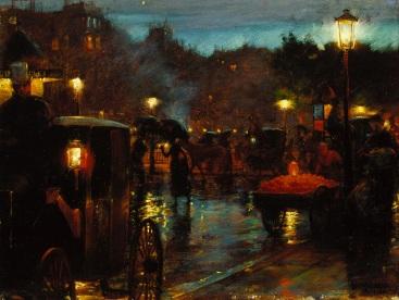 Charles_Courtney_Curran_-_Paris_la_nuit_(1889)