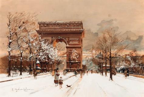 Eugène_Galien-Laloue_Paris_Arc_de_Triomphe_en_hiver